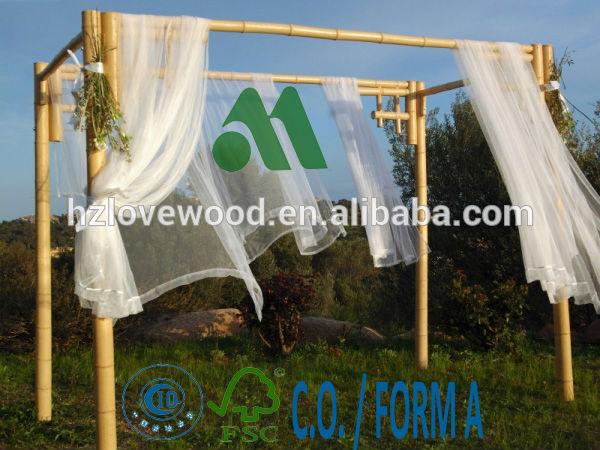 Bambou pergola pour mariage de mariage arc de bambou bambou tonnelle ba - Pergola bambou jardin ...