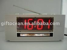 LED Display Digital desk alarm clock with radio