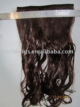 one piece synthetic clip hair extension with lace french curl