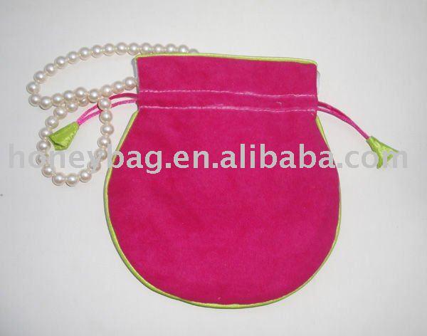 drawstring velvet gift bag for jewelry