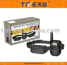 Puppy training, remote control dog training collar with LCD display, shock collars for dogs