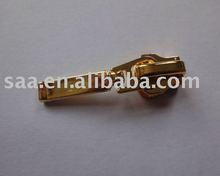 fancy puller plating gold metal zip slider