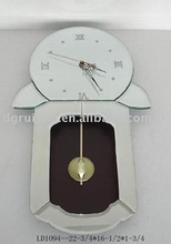 Glass Mirror Frame Wall Clock