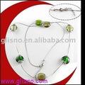de moda de metal larga cadena de cuentas de collar de gnk30082
