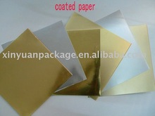 PET golden and silver coated paper