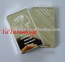 999 silver In god we trust bar badge