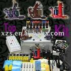 professional tattoo kit 3 tattoo guns ink power supply
