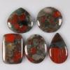 C276 African blood jasper cabochon semi-precious gemstone