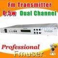 18 fsn dual channel transmissor fm 0.5w estação de rádio para venda