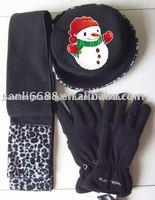Fashion windproofing women's fleece sets(fleece gloves /fleece hats /fleece scarfs )
