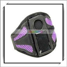 Durable Sports Mesh Armband Case Purple For iPod Nano 4G