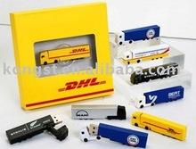 truck shape usb flash drive,PVC sub flash drive for gift