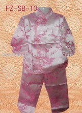 chinese style girls suit,tops and pants,children suit