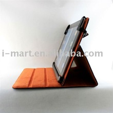 for ipad2 Flip Stand Genuine leather cover Case