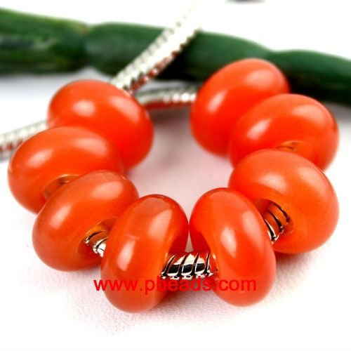 No metal core red AAA+ cat eye beads GCB0032
