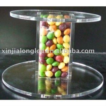 2 tier acrylic tube cake stand or crystal cupcake stand