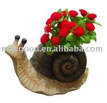 Resin garden snail pot