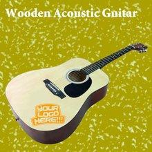 Gift Guitar with Laser Engraving logo