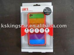 fashion for iphone 4G Rainbow silicon bumper case