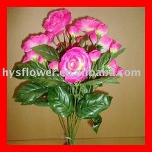 artificial flower bush-9 heads camellia bush