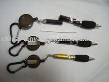 Reel Pen With Carabiner