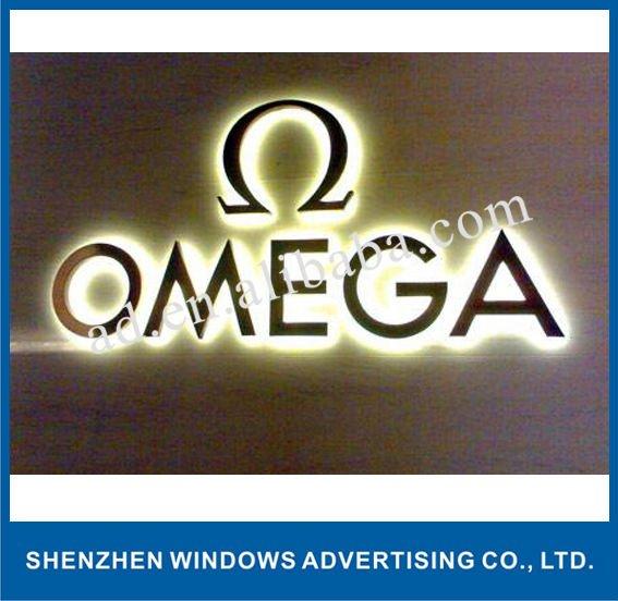 letter a logo. backlit led metal letter logo