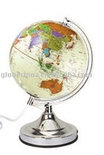 8 inches or 20cm electronic equipment touch light globe with world map