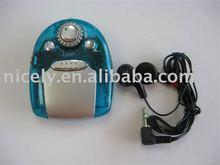 Mini FM radio with earphone and flashlight