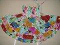2011 nuevo estilo bohemio hechos a mano magnífico rebordear vestido de corto; el diseño único; estilo étnico