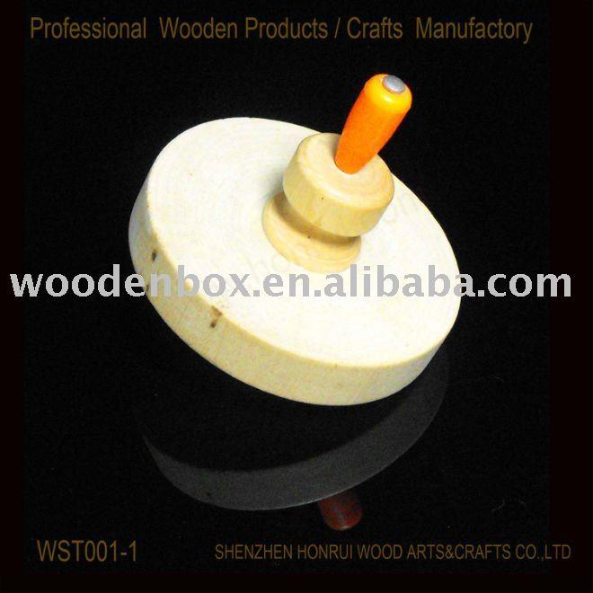 Honrui wooden spin top WST001