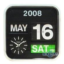 Wall Auto Flip Calendar Clock