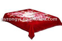100%Polyester 200*240cm printed thermal blanket 4.5kg