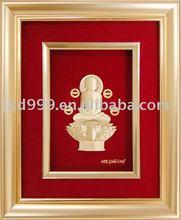 3D Gold Foil Mahavir