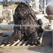 copper lion carving(factory)