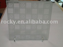 produce 6mm 8mm 4mm pattern acid etched glass factory
