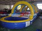 inflatable slip n slide , inflatable water game ,mini water slide