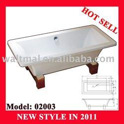 free standing bathtub WTM-02001 acrylic square