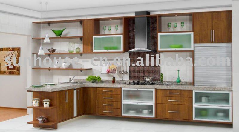 L SHAPED KITCHEN WALL CABINET -