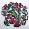 C291 Turquoise Matrix Pyrite cabochon semi-precious gemstone from china