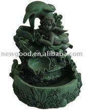 resin fountain of dolphin figurine