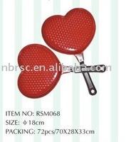 Aluminum heart shape mini frying pan for cookware