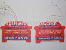 Custom auto air freshener for promotion (ecofriendly)