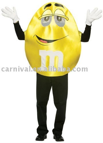 Yellow M and M Deluxe Adult Costume BSWC-1586