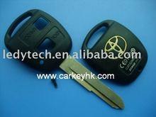 Toyota remote key cover,2 buttons remote key blanks&key case& key shell,car key