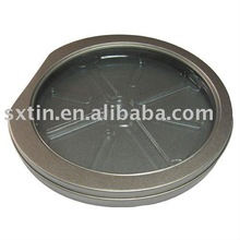 round tin packing for CD case