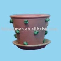 polyresin little frogs flower pot