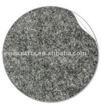 gray felt fabric sticker