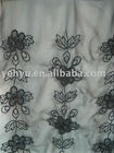 flower embroidery textile tulle fabric