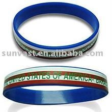 Silk Printing Silicone Bracelet