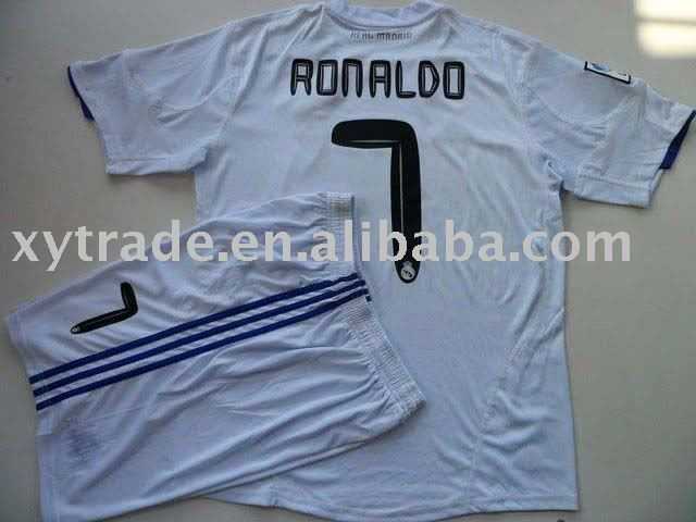 ronaldo real madrid shirt. Real Madrid Home Jersey Shorts RONALDO 7 Size S M L XL(China (Mainland))